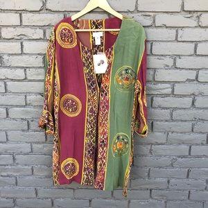 Soft Surroundings Handmade in Bali Boho Tunic M